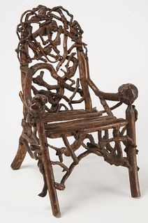 Child's Rustic Root Armchair