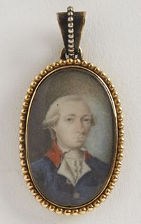 Fine Miniature portrait of an Aristocrat