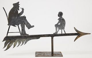 Sea Captain & Child Weathervane