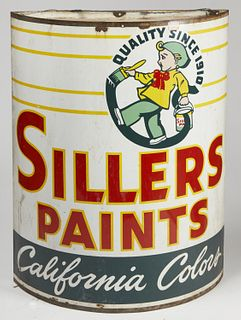 Advertising Paint Can Sign