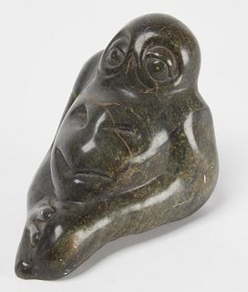 Unusual Double Faced Stone Figure