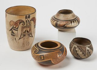 Four Pieces Native American Pottery