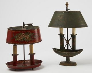 Two Tole Painted Lamps