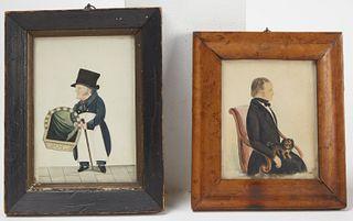 Two English Miniature Portraits