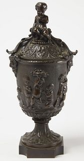 Fine French Bronze Covered Urn