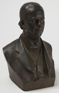 French Bronze Bust of Gentleman
