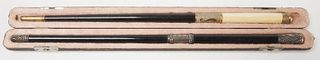 Two Antique Conductor Batons
