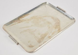 Mexican Modernist 925 Silver Serving Tray