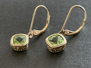 Earrings 14K with Peridot