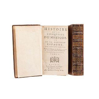 Solis, Antoine. Histoire de la Conqueste du Mexique, ou de la Nouvelle Espagne... Paris, 1730. Tomos I - II. Quinta edición. Pz:2.