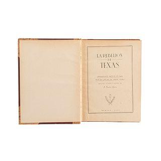 Sánchez Garza, J. La Rebelión de Texas. Manuscrito Inédito de 1836, por un Oficial de Santa Anna. México, 1955. Edición de mil ejemplar