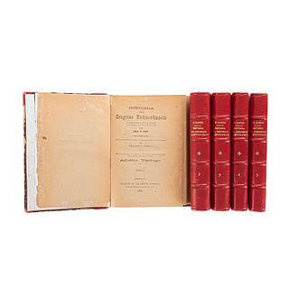 Zarco, Francisco / Verdugo, Agustín. Historia del Congreso Constituyente de 1856 y 1857. México, 1898. 1a ed. ampliada. Pzs: 5.