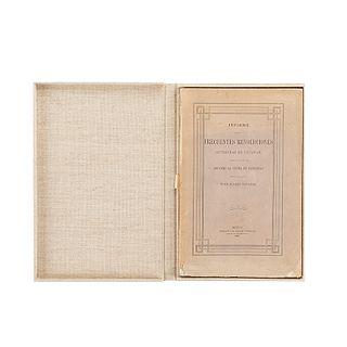 Suárez Navarro, Juan. Informe sobre las Causas y... Cambios Políticos Ocurridos en el Estado de Yucatán... México, 1861. Un plano.