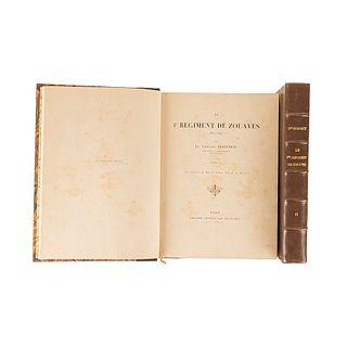 Godchot, Simón. Le 1er Régiment de Zouaves 1825 - 1895. Paris: Librairie Centrale des Beaux - Arts, 1898. Piezas: 2.