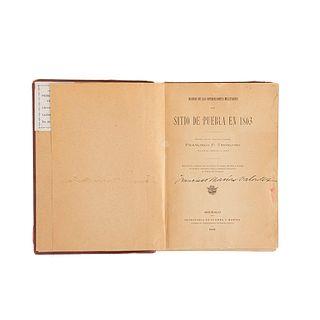 Troncoso, Francisco P. Diario de las Operaciones Militares del Sitio de Puebla en 1863. México, 1909. 22 láminas.