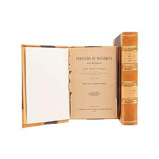 Márquez, Leonardo / Hidalgo, José Ma. Manifiestos (El Imperio y los Imperiales) / Proyectos de Monarquía en México. Méx, 1904. Pzas: 2.