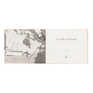 Sandwell, Bernard. Les Villes du Canada. Toronto: Maison Seagram,1953. Dedicado y firmado por Frida Kahlo.