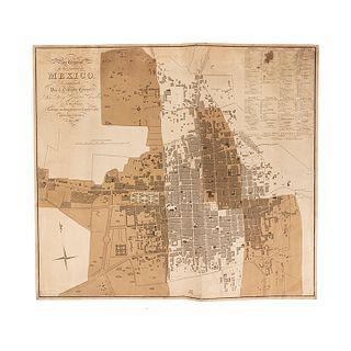 García Conde, Diego. Plan General de la Ciudad de México, Levantado por el Teniente Coronel Don Diego García Conde...Londres, 1811.