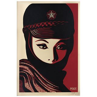 "SHEPARD FAIREY, Peace, Signed, Serigraphy without print number, 34.6 x 22.8"" (88 x 58 cm)"