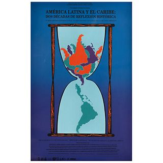 """GUSTAVO AMÉZAGA, América Latina y el Caribe, Unsigned, Stamp from Wolfryd - Selway Projects, Serigraphy wihtout print number, 33.8 x 22"""" (86 x 56 cm)"""