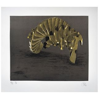 """VÍCTOR GUADALAJARA, Untitled, Signed and dated 13, Etching, aquatint and relief P / I I / II, 11.8 x 14.1"""" (30 x 36 cm)"""