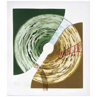 """VÍCTOR GUADALAJARA, Untitled, Signed and dated 09, Aquatint etching and embossing P / I II / II, 12.2 x 10.2"""" (31 x 26 cm)"""