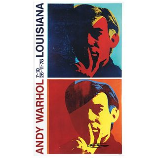 """ANDY WARHOL, Andy Warhol Lousiana, 1978, Signed with marker, Offset print without print number, 38.1 x 22.8"""" (97 x 58 cm)"""