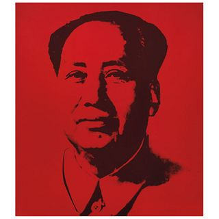 """ANDY WARHOL, Mao - Red, Stamp on back """"Fill in your own signature"""", Serigraphy without print number, 33.4 x 29.5"""" (85 x 75 cm)"""