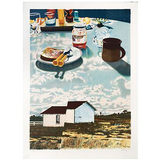 """HOWARD KANOVITZ, The Ground Above Us, Signed, Lithograph 82 / 175, 28.7 x 20.8"""" (73 x 53 cm), Document"""