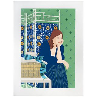 """PHYLLIS SLOANE, Seated woman two, 1979, Signed, Serigraphy 16 / 300, 24.8 x 16.9"""" (63 x 43 cm), Document"""