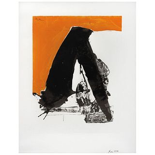 "ROBERT MOTHERWELL, No. 12, The Basque suite, 1970 - 71, Signed in pencil and on plate, Serigraphy 8/150, 22.4 x 17.3"" (57 x 44 cm)"