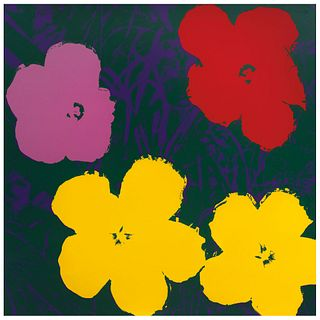 """ANDY WARHOL, II.65 Flowers, Stamp on back, Serigraphy without print number, 35.9 x 35.9"""" (91.4 x 91.4 cm), Certificate"""