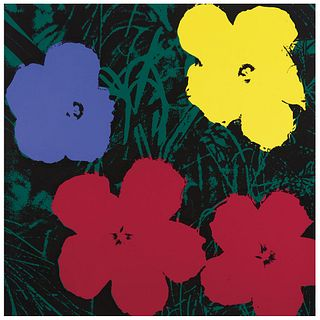 """ANDY WARHOL, II.73 Flowers, Stamp on back, Serigraphy without print number, 35.9 x 35.9"""" (91.4 x 91.4 cm), Certificate"""