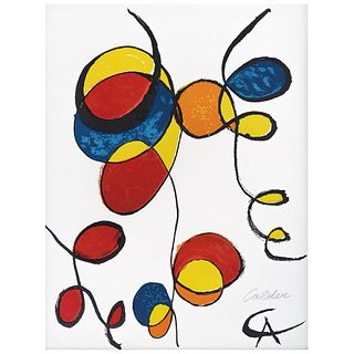 """ALEXANDER CALDER, Spirales, 1974, Signed on plate and spurious signature in pencil, Lithograph without print number, 14.5 x 11"""" (37 x 28 cm)"""