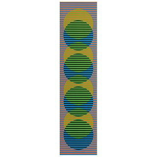"CARLOS CRUZ - DIEZ, Stitge, Signed, Lithograph 74 / 75, 39.3 x 9.7"" (100 x 24.8 cm)"