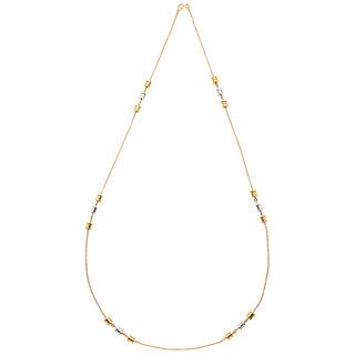 NECKLACE IN 18K ROSE, YELLOW AND WHITE GOLD FROM THE BVLGARI FIRM, B.ZERO1 COLLECTION