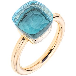 RING WITH TOPAZ IN 18K ROSE GOLD FROM THE FIRM POMELLATO, NUDO COLLECTION Weight: 8.1 g. Size: 5 ½