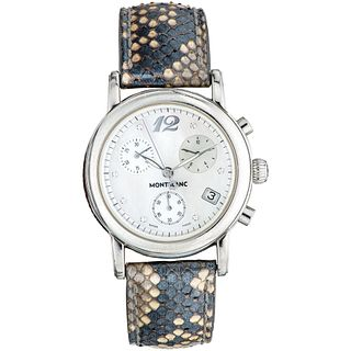 MONTBLANC MEISTERSTÃœCK STAR CHRONOGRAPH WATCH WITH STEEL DIAMONDS REF. 7039 Movement: quartz. Caliber: 4810 106 ET ...
