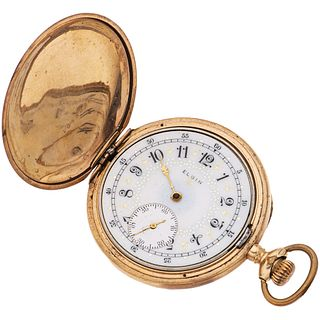 ELGIN PLATE POCKET WATCH Movement: manual (does not work, requires service). Series: 104XXXX Box: circular d ...
