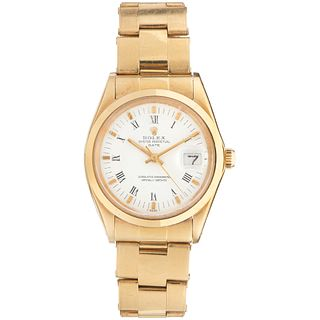 ROLEX OYSTER PERPETUAL DATE WATCH IN 18K YELLOW GOLD REF. 1500 Movement: automatic. Caliber: 1570