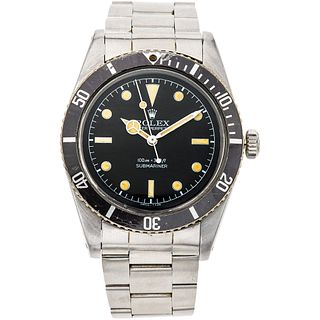 ROLEX OYSTER PERPETUAL SUBMARINER WATCH IN STEEL REF. 6536 1, CA. 1957 Movement: automatic. Caliber: 1030 Series: 3 ...