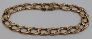 JEWELRY. Men's 14kt Gold Link Bracelet.