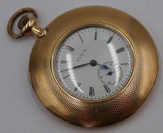 JEWELRY. Elgin 14kt Gold Pocket Watch.