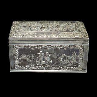 Antique Dutch 833 Silver Box