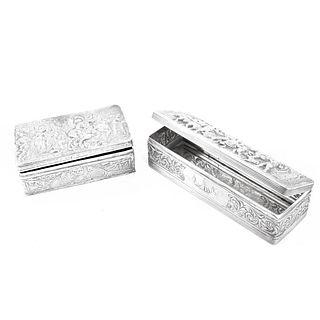 (2) Antique Dutch Silver Boxes