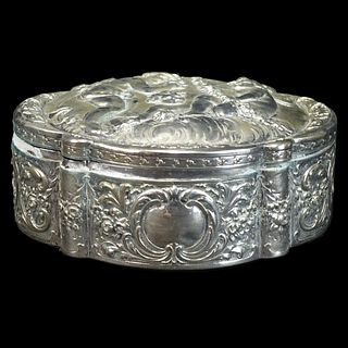Antique German Silver Hinged Box