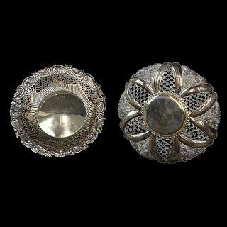 (2) Vintage Sterling Silver Bowls