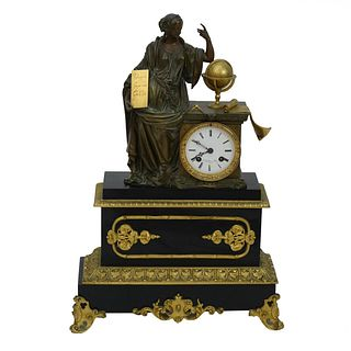 Antique French Empire Style Mantle Clock