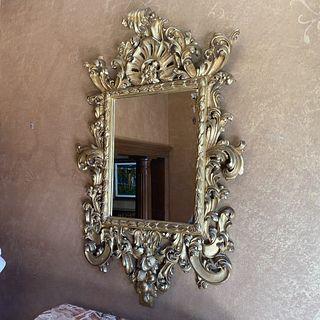19th C. Italian Carved Gilt Wood Mirror