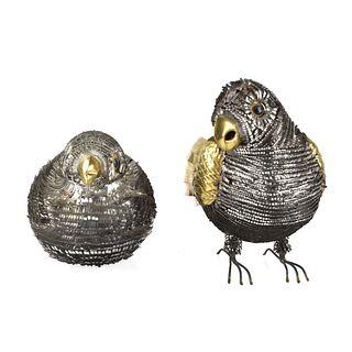 Sergio Bustamonte style Bird Sculptures
